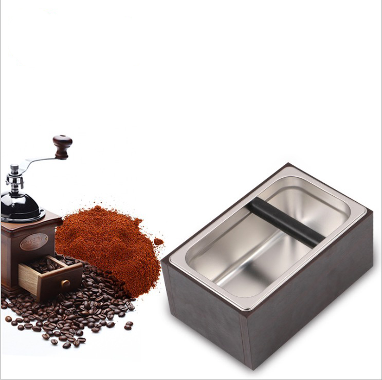 barista tool Professional knock box/coffee ground knock box/stainless steel+wooden knock box/coffee tool with high quality plastic coffee knock box new