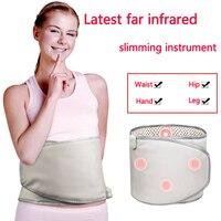 Massage Electric far infrared heating warm pad waist belly Leg and body care mat Abdominal Massage belt