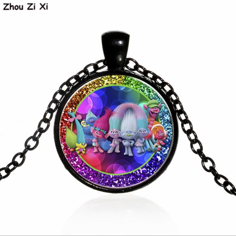 Magic hair wizard Trolls time gem glass necklace Toys image