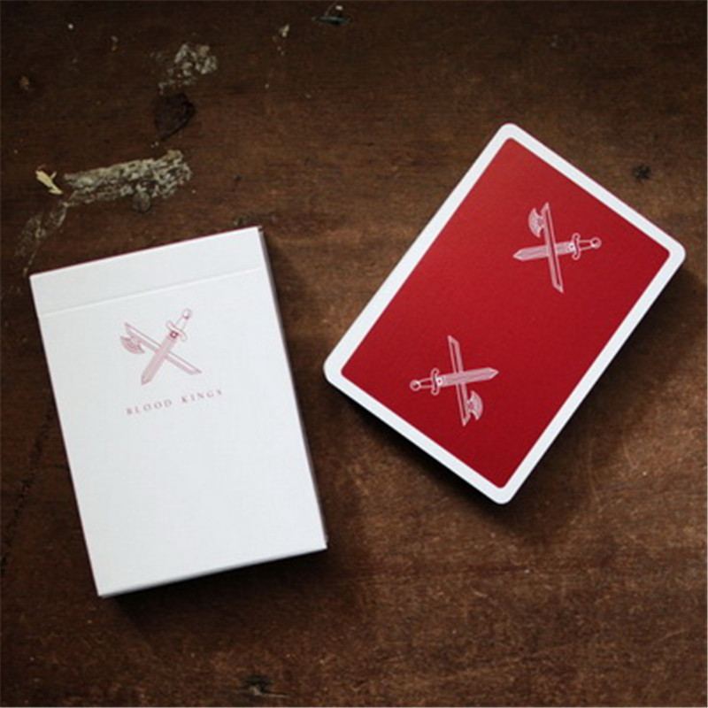 1pcs BLOOD KINGS V2 Ellusionist Playing Cards Magic Cards Poker Magic Props Close Up Stage Magic Trick for Professional Magician