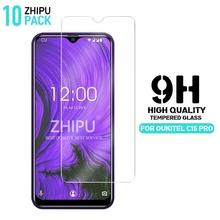 10 Pcs Tempered Glass For Oukitel C15 Pro Screen Protector 2.5D 9H Protective Film