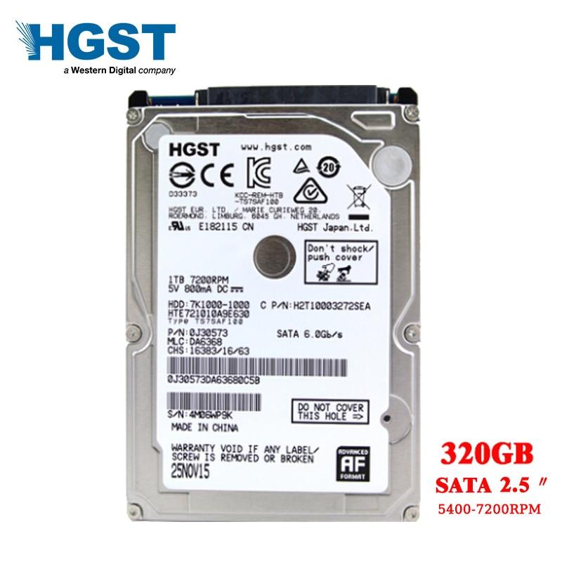 HGST Internal Hard Drive 320GB Sata 2.5' Hard Disk SATA2-sata3 HDD2mb/8mb 5400-7200RPM For Laptop Notebook Shipping