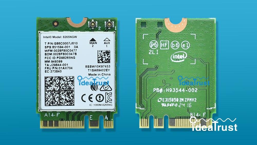 Prix pour Marque nouvelle pour Intel Double Bande Sans Fil-AC 8265 8265NGW 8265ac 8265 ac BT4.2 5G 867 Mbps M2 Sans Fil NetworkCard PK 7265 7260 8260