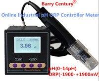 Онлайн промышленных рН ОВП Управление Лер метр монитор точность 0.02pH 1mV верхний и нижний предел Управление реле сигнализации текущего вывод
