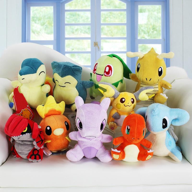 10PCS Pokemon Pendants Pikachu Raichu Plush Toy Soft Doll Wholesale