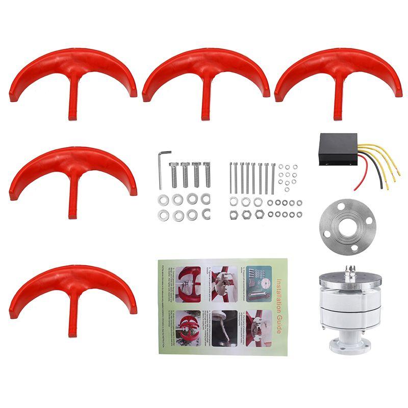 1500/1200/1000 W éolienne générateur lanterne 5 lames moteur Kit 12/24 V axe Vertical pour maison hybride lampadaire + contrôleur - 4