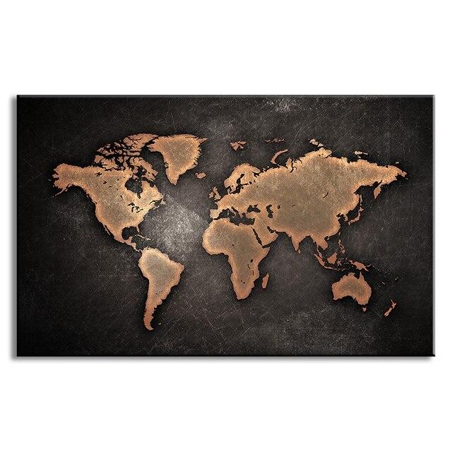 Online shop 1 pcsset huge black world map paintings print on image gumiabroncs Images
