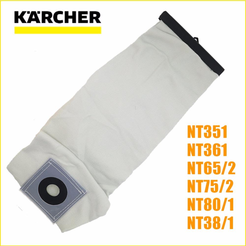 Top qualité lavable aspirateur pièces pour karcher aspirateur tissu filtre à poussière sacs nt351 nt361 nt65