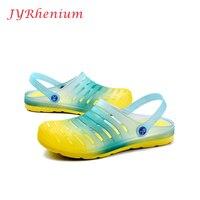 JYRhenium Summer Men slippers Breathable Beach Sandals Male Shoes Hollow Out of The Drag Men Shoes Sandals For Summer Plus Size