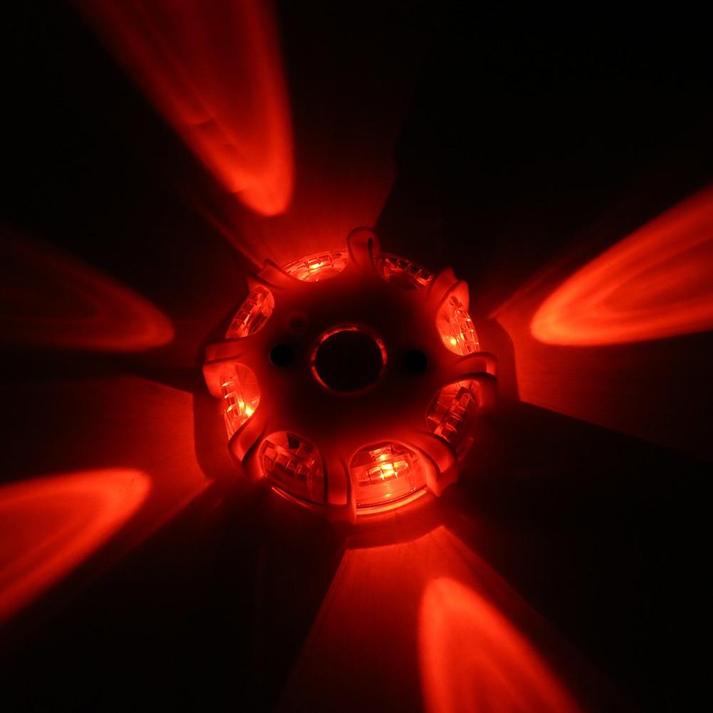 Magnetic Led Emergency Safety Flare Red Light Magnet Flashing Warning Night Lights Roadside Disc Beacon For Car Truck Boat