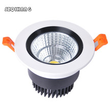 Dimmable LED Downlight 10W 15W 20W AC 85-265V COB DownLights Spot Recessed Down light Light Bulb