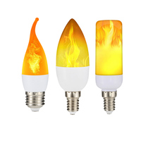 New LED Flame Effect light Bulb Fire Flame Tail Tipped Crop bubble Retro 85 265V Flickering Effect Bulb for Halloween Christmas