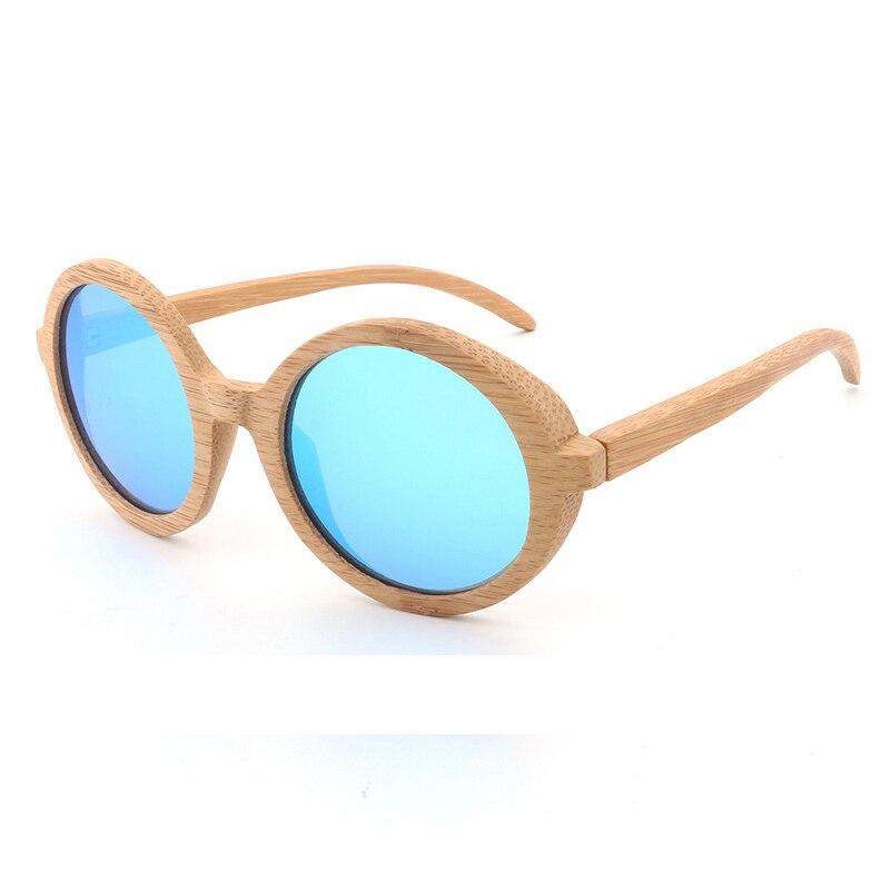 a5d02d165a Salida madera Gafas de sol hombres de las mujeres polarizadas espejo azul  bambú madera Gafas de sol Retro John Lennon ronda Gafas de sol uv400 Gafas