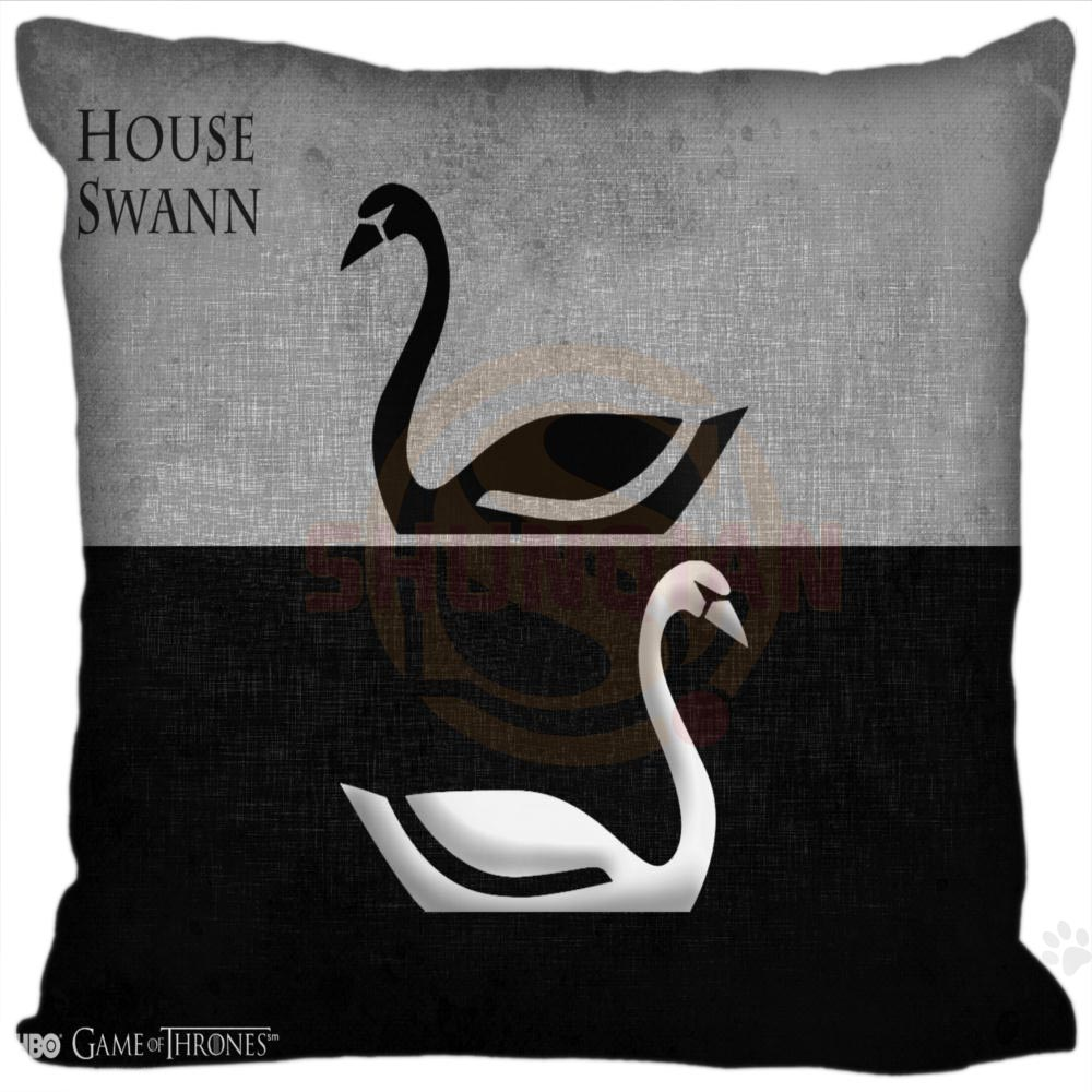 H+P#83 New Hot Custom Pillowcase game of thrones #4 soft multi-sized (duplex print) Pillow Cover Zippered SQ01003@H083 image