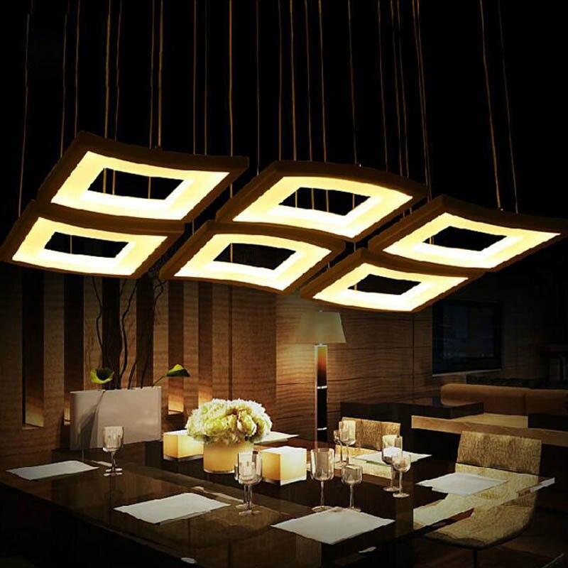 Modern minimalist led restaurant fashion bar table lamp acrylic creative personality studio light bar light chandelier led light