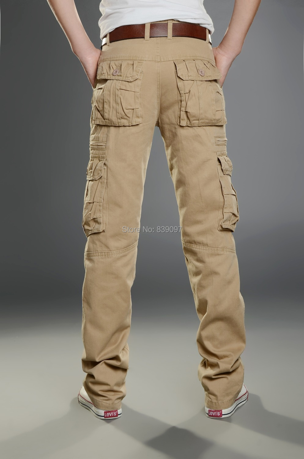 Aliexpress.com : Buy 2014 Mens Fashion Cargo Pants Casual Straight ...