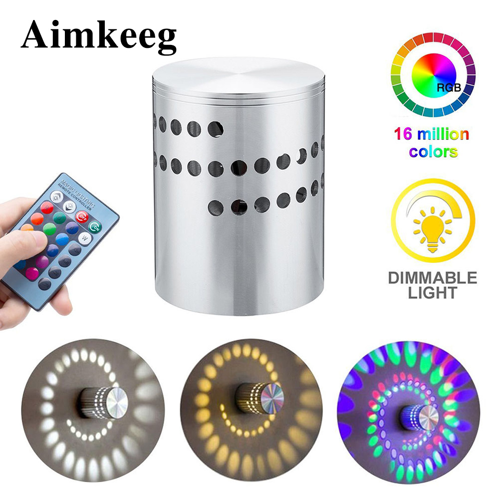 Aimkeeg Led Wall Lamp Spiral Effect Light Spiral Hole Led Modern Wall Lights for Home Game Room Bar KTV DecorationAimkeeg Led Wall Lamp Spiral Effect Light Spiral Hole Led Modern Wall Lights for Home Game Room Bar KTV Decoration