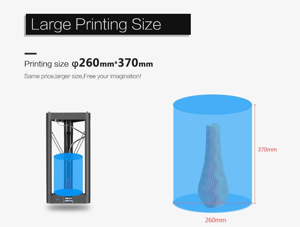 Flsun QQ 3D impresora metal Marcos gran tamaño de montaje auto-nivel ...
