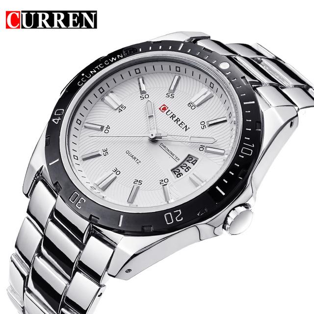 Relojes hombre 8110 curren mens relógios top marca de luxo relógio de pulso dos homens curren relógios de pulso homens relógio de quartzo relogio masculino