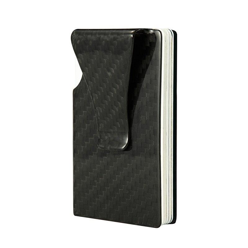 Carbon Fiber Card Holder för män RFID Minimalistisk Smart Wallet - Plånböcker - Foto 6