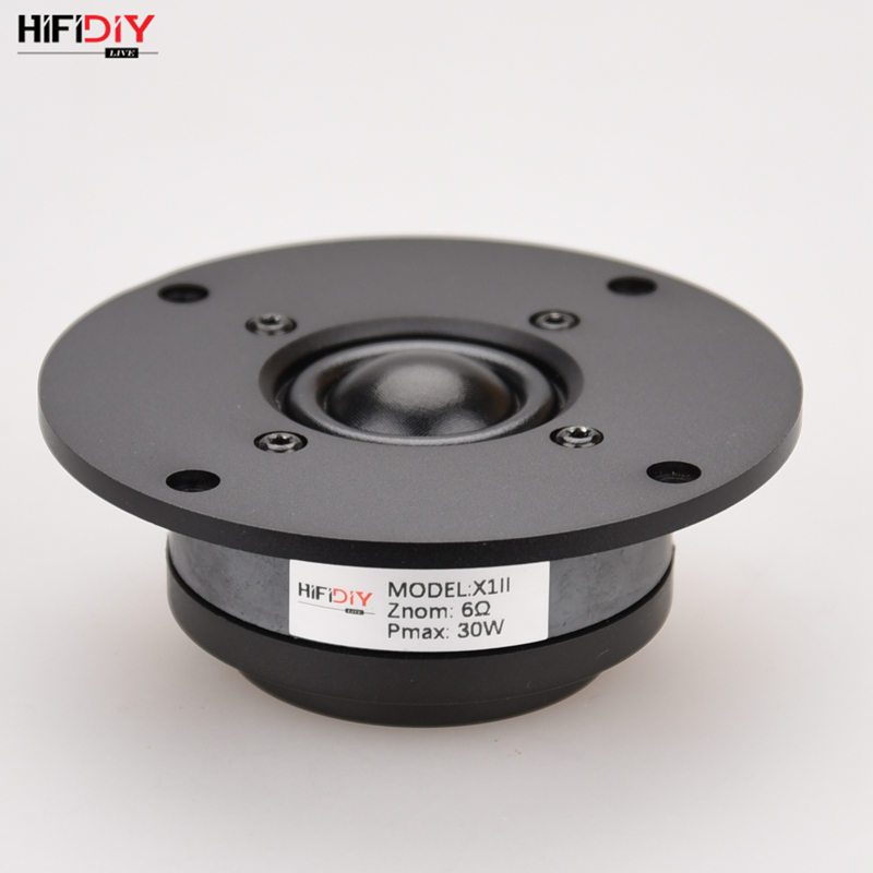 HIFIDIYLIVE Q1II 4 inch Tweeter Speaker Unit aluminum panel Black Silk membrane 8OHM30W Treble Loudspeaker 94