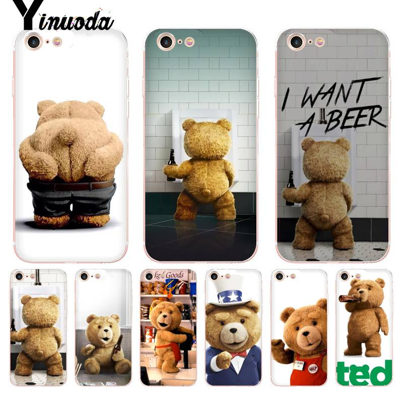 Yinuoda For iPhone 7 6 X Case Ted Bear Movie Ted Kiss MY Butt Ass Phone
