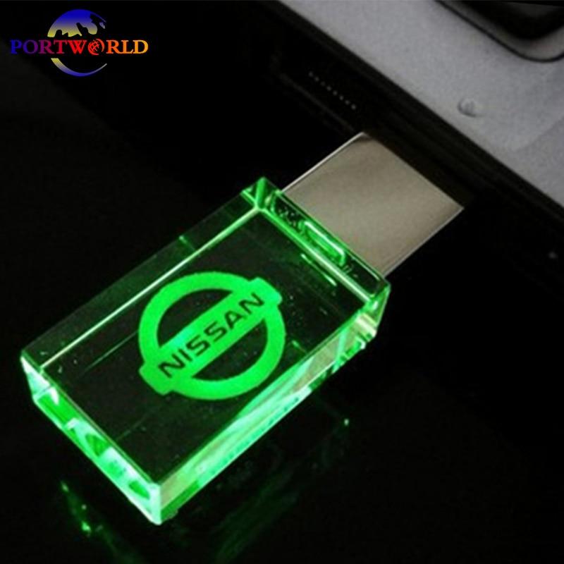 Nissan Usb Crystal Glass Flash Drive 2 0 Memory Pen Drive