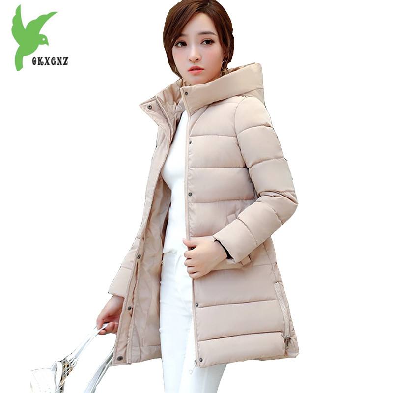 New Women's Winter Down Cotton Jackets Students Parkas Korean Fashion Hooded Thick Warm Plus Size Medium Length Slim Coat OKXGNZ bels prestige lux gtppn s14