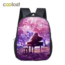 Fantasy Piano Boys Girls School Bags Artistic Kids Backpacks Children Book Bag Teenager Music Mini Daily Small Backpack Kid Gift