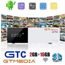 GTMedia GTC Satellite TV Receiver DVB-S2/C/T2/ISDB-T Android 6.0 Smart