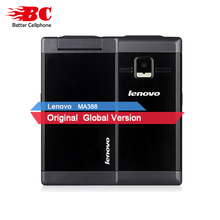 "3.5"" Original Lenovo MA388 GSM Cell Phone 480×320 FM MP3 Dual SIM Card Dual Standby 0.3MP Camera Bluetooth Old Man Cell Phone"
