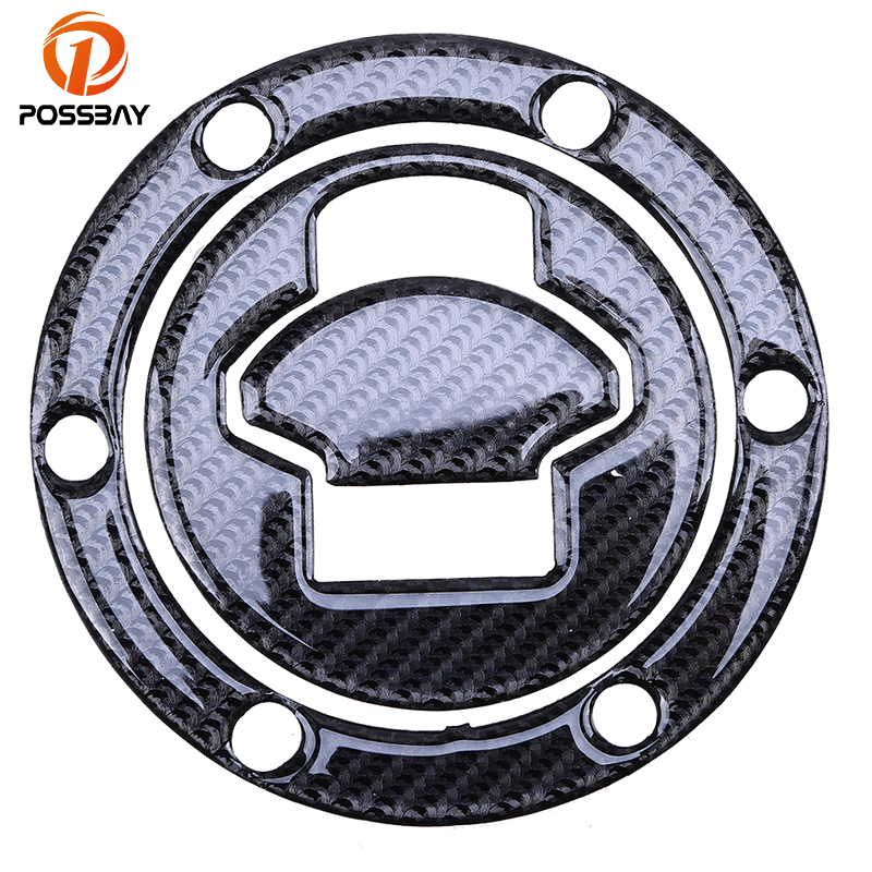 POSSBAY Carbon Fiber Motorcycle Oil Fuel Gas Tank Sticker Cap Tank Pad Protector Stickers Fit For BMW R1150R R1150RT 2001-2005