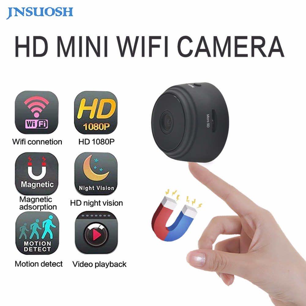 Micro WIFI Mini Camera HD 720P With Smartphone App And Night Vision IP Home Security font