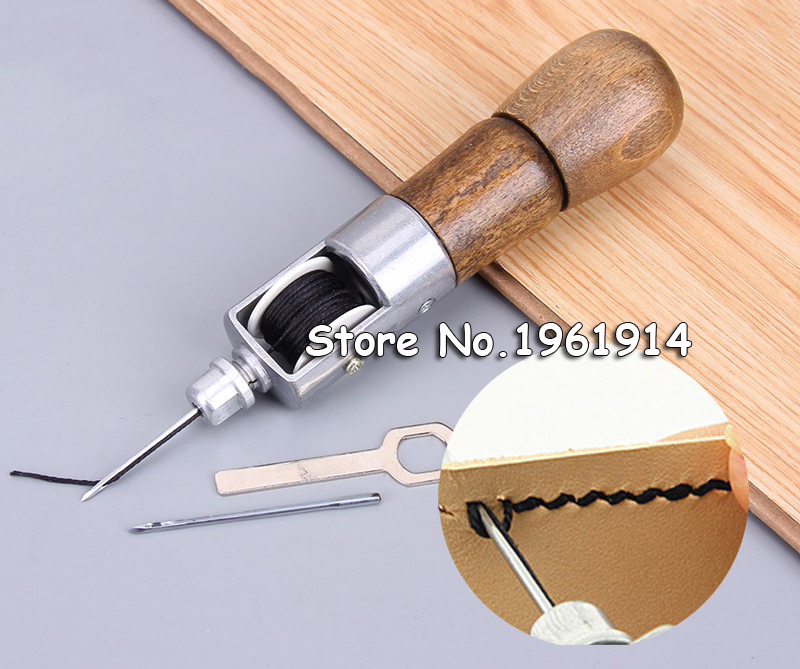 Leather craft Tool Carving Line Hand Made Leather Tools Art Needle Sewing Machine 133mm leather tools