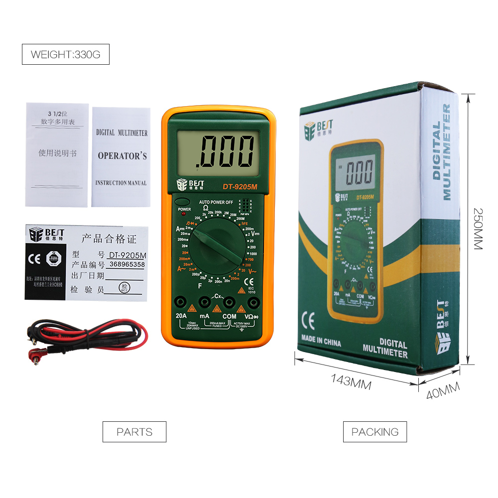 Lcd Digital Multimeter Voltmeter Ammeter Ohmmeter Multi Tester Diode Circuit Continuity Multimetro Electric Multimetre Digitale In Hand Tool Sets From Tools