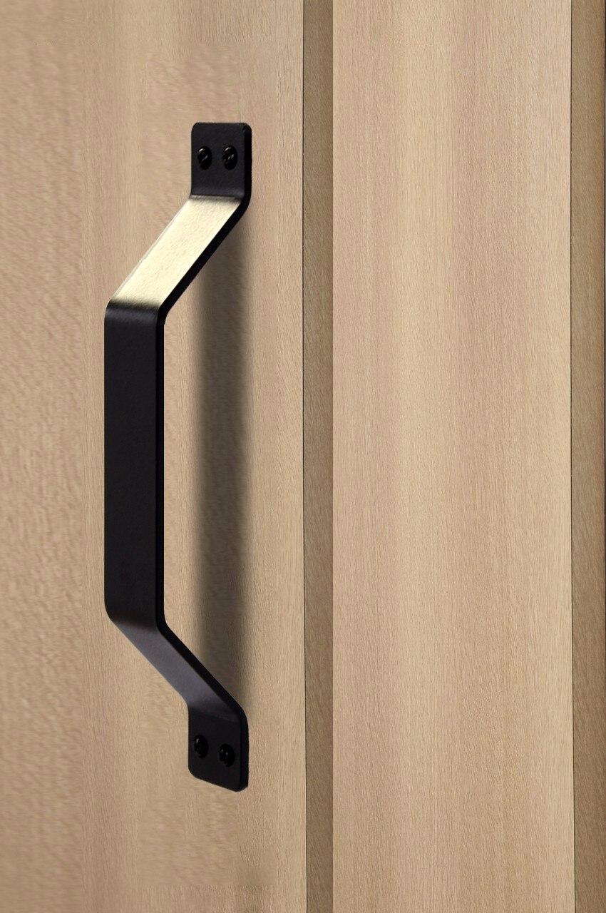 Black Steel Sliding Door Push Pull Door Handle 89 X 11x 165