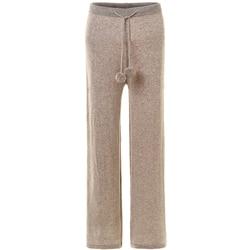 Зима 2019, супер темпераментные кашемировые брюки, женские Вязанные шерстяные кружевные Широкие штаны, женские свободные теплые штаны