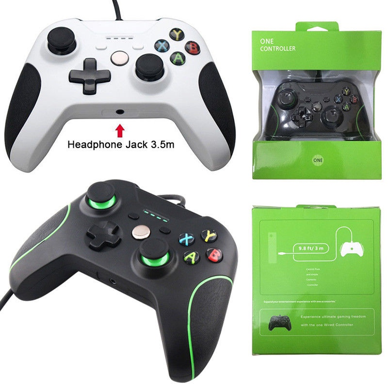 все цены на For Xbox one Gamepad USB Wired Controller Controle For Microsoft Xbox One Controller Gamepad For Xbox One Slim Joystick онлайн