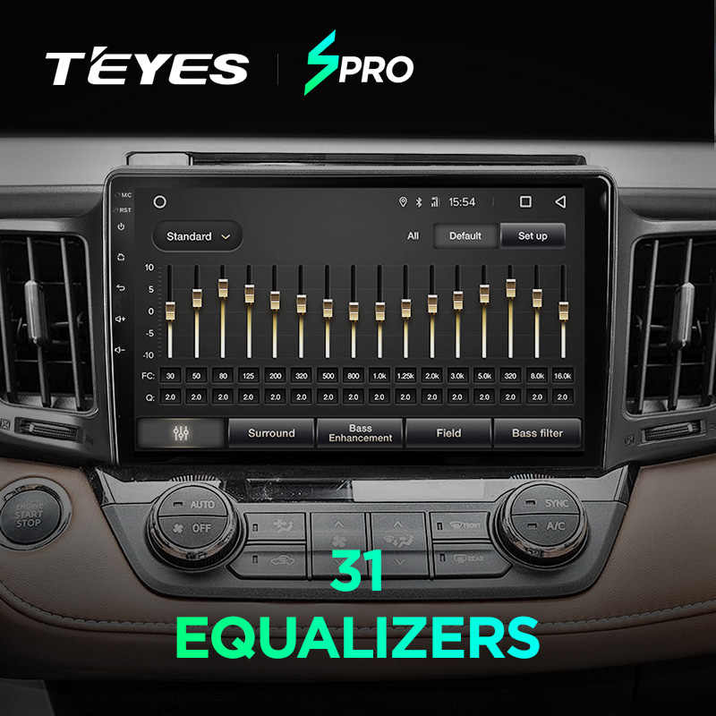 TEYES SPRO سيارة راديو الوسائط المتعددة لا 2 الدين الروبوت 8,1 8.1 مشغل فيديو والملاحة GPS لتويوتا RAV4 4 5 XA40 XA50 2013-2018