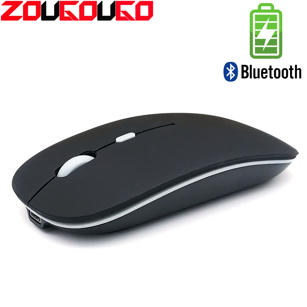 Bluetooth Silent Wireless Mouse Rechargeable Built-in Battery 2.4Ghz USB Computer Mause For PC Laptop