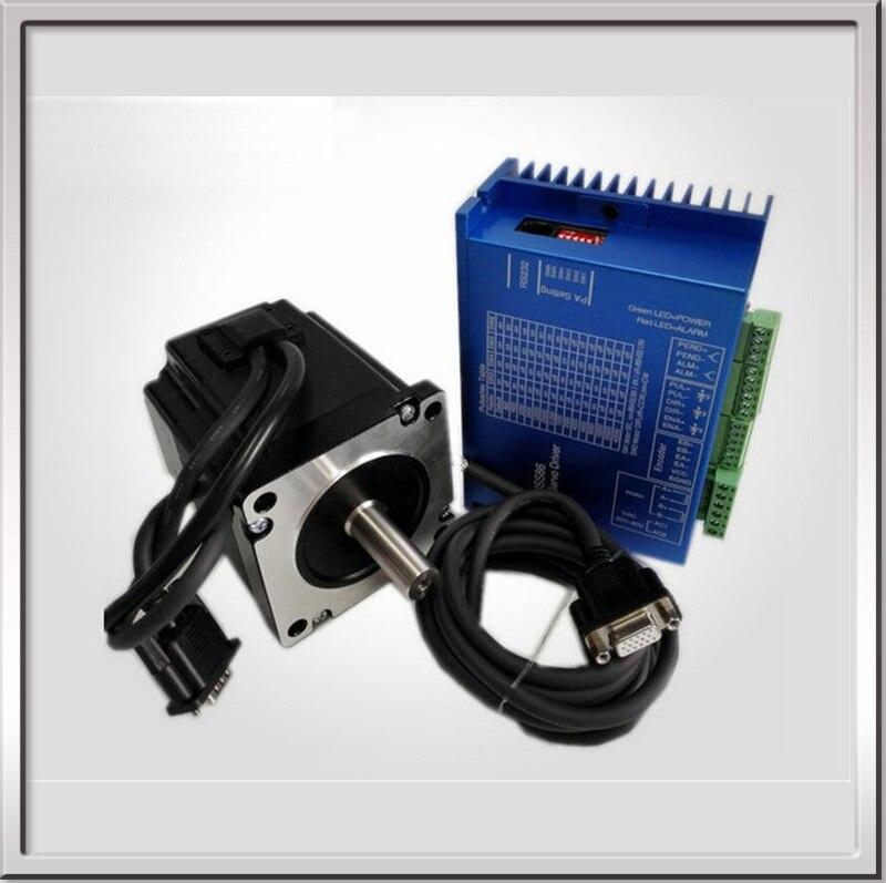 2 ensembles 12.2N.M 4.2A 8 fils 86mm NEMA34 moteur pas à pas en boucle fermée avec conducteur 3M câbles pour CNC de moulin à JK86HS155-4208 envoyé par DHL