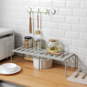 Adjustable Storage Rack Cupboard Storage Shelf Folding Flavoring Shelf Kitchen Organizer Wardrobe Save Space Shoe Organizers