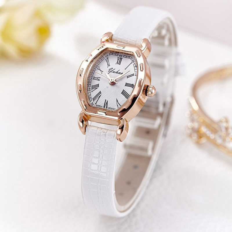 Luxury Brand Ladies Leather Bracelet Watch Women Small Wrist Quartz Watches Elegant Female Clock 2017 Reloj Mujer Slim Bracelets mjartoria ladies watches clock women quartz watch simple sport bracelet watch student girl female hand wrist watches for women
