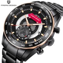 PAGANI DESIGN Hot Watch Men Automatic Date Clock Stainless Steel Strap Business Luxury Brand Quartz Wristwatch Relogio Masculino