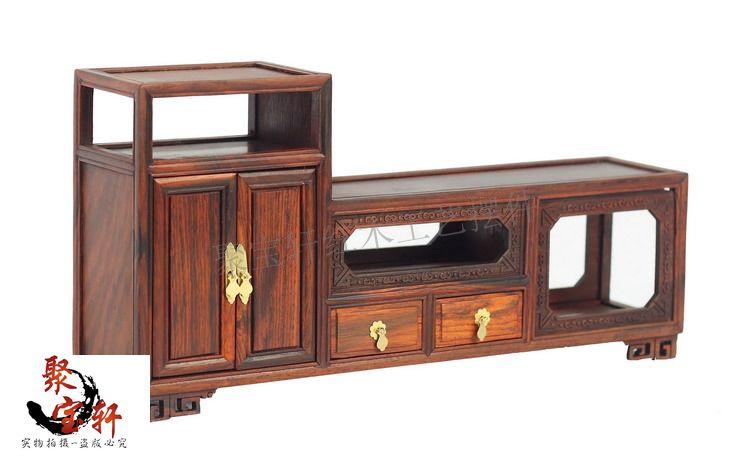 Резьба по дереву ремесленного предметы мебели твердой древесины ТВ ковчег миниатюрная мебель классическая бытовой играть роль ofing пробова
