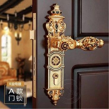 85mm central distance door handle lock with 70mm key lock 85mm CENTRAL DISTANCE HOLLOW SPLIT ZINC DOOR HANDLE DOOR  LOCK EXPORTED TO ITALY DESIGN--GP FINISH