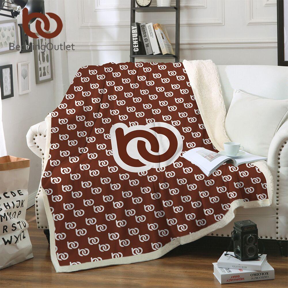 BeddingOutlet de DIY diseño de terciopelo bebé manta Dropshipping. exclusivo. Sherpa manta cama POD personalizado delgada edredón