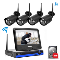 Wistino Security IP Camera Outdoor 4CH CCTV System 720P Wireless NVR P2P Wifi Kit 1MP Video