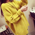 Sweaters For Woman 2016 Autumn Winter Clothes Long Sleeved Yellow Red Pullover Sweaters Casual Loose Oversized Knitted Sweater