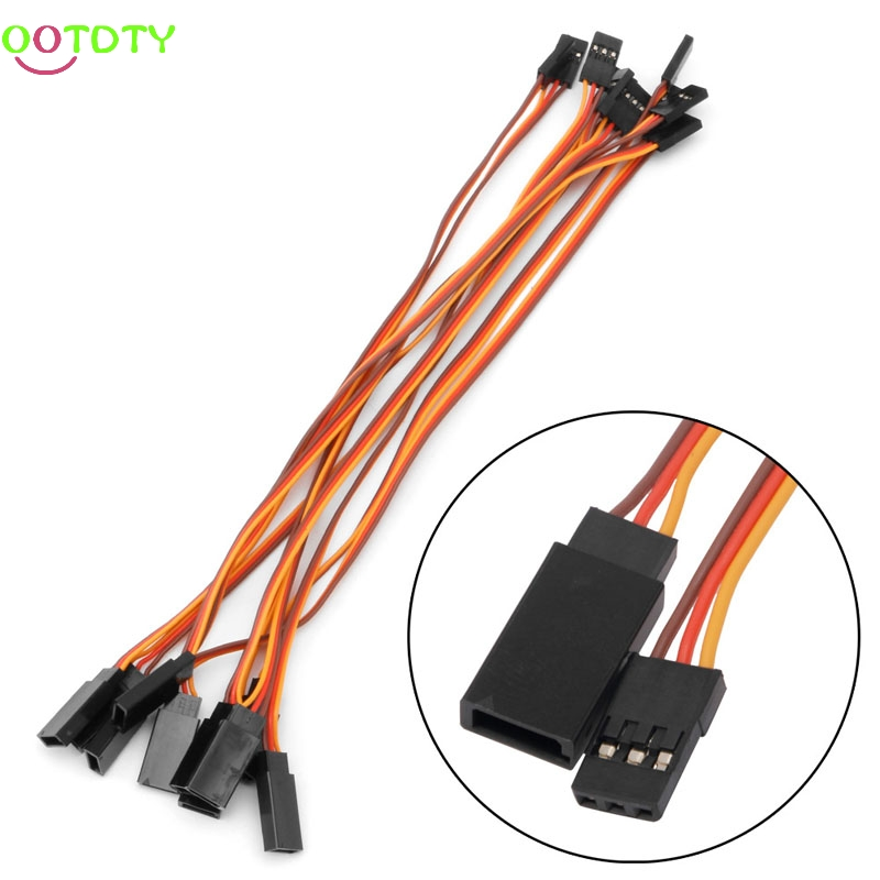 10Pcs 200mm Servo Lead Wire Extension Cable For RC Futaba JR Male to Female